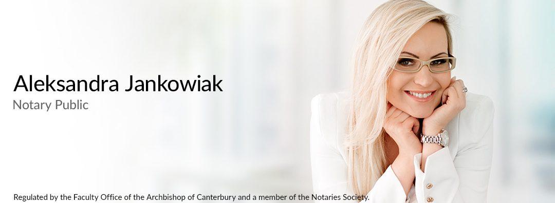 Notary Public London - Aleksandra Jankowiak